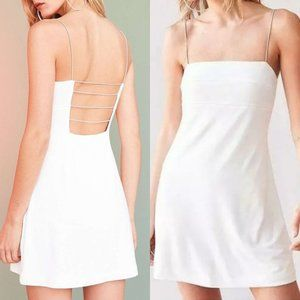 Silence + Noise White Strappy Cage Dress